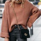 Knit Turtleneck Sweater (M)