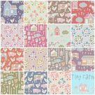 TILDA TINY FARM Fat Eighth Bundle   Tiny Farm Quilt Fabric   15 Fat Eighths   Quilting Fabric Bundle
