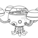 Octopod The Octonauts Octopus Submarine Coloring Page - Download & Print Online Coloring Pages for Free