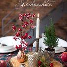Fröhliche Weihnachten   meine Tischdeko im rustikalen Blockhütten Look zu Weihnachten   Leelah Loves