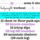 15 Minute Arms and Abs Bodyweight Circuit - Peanut Butter Fingers