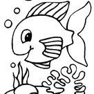 dessin de poisson rouge dans un bocal