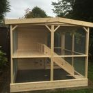 HIGH QUALITY RABBIT SHED WITH ENCLOSURE   Rabbit Hutch World