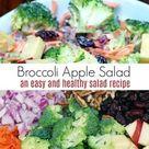 Creamy Broccoli Apple Salad Recipe with Walnuts