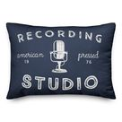 Red Barrel Studio Recording Studio Indoor/Outdoor Throw Pillow Blue 14.0 x 20.0 x 1.5 in   Wayfair Canada