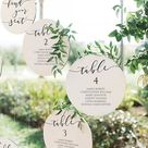 Wedding Seating Chart circle Template Calligraphy table   Etsy