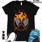 Axe Throwing Lumberjack Hatchet Fire New Shirt for Men and Women