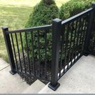 Weatherables Stanford 36 in. H x 72 in. W Textured Black Aluminum Stair Railing Kit-CBR-B36-A6S - The Home Depot