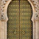Door Wall Sticker *Royal Entrance to the Mosque in Rabat* / Moroccan Wallpaper / Moroccan Door Sticker / Moroccan Door Decal /