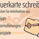 Trauerkarte schreiben: Tipps und Beispiele   Herbstlust.de
