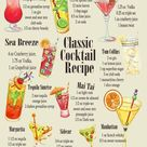 Vintage Metal Sign   Classic Cocktail Recipes