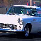 Beautiful 1955 Ford T-Bird Drag Racing (VIDEO)