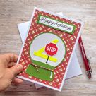 Happy Holidays Card for School Crossing Guard, Giftcard holder