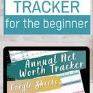 Annual Net Worth Spreadsheet Tracker Customizable | Budgeting Finances