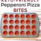Keto Pepperoni Pizza Bites {0 Net Carbs}