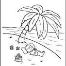 Junge im Urlaub am Meer