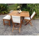 Teak Wood Amsterdam Square Dining Table, 47 inch