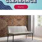 Orren Ellis Crownover Upholstered Bench, Leather/Faux Leather/Upholstered, Size 30