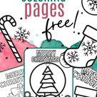 Free Christmas Coloring Sheets Printable