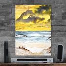 Metal Poster Abstract Beach Seascape