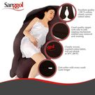 Sanggol Body Pillow, Pregnancy Pillow Pillowcase - Xl U Pillowcase - Chocolate