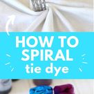 Nice HOW TO SPIRAL TIE DYE