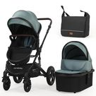 Luxury High Landview 3 in 1 Baby Stroller - United States / Green