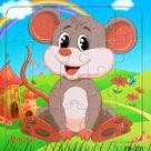 Wooden puzzle for toddlers   Mouse
