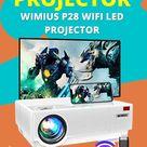 4K Projector, WiMiUS P28 WiFi LED Projector Native 1920×1080 Outdoor Projector 10001 Contrast