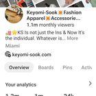 Keyomi-Sook instagram Account