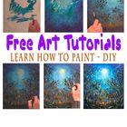 Free Art Tutorials - DIY Home Pinterest Account