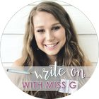 Write on with Miss G   English Teacher   Engaging ELA Lessons's Pinterest Account Avatar