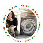 Liza Vaughn Art - Resin geode art - Resin Ocean Art - Resin art - Pinterest Account