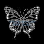 18cm Clip Mariposa Mariposas Glitter empedrado grande boda decorativo de malla