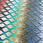 Crackle bow design miroir mural cadre argent champagne mosaïque verre 120x80cm