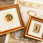 4x6 inch Gold Frame round-ribbed design Golden WeddingAnniversaryBridesmaids GiftOffice Desktop Deluxe Photo Frame 4x6 inches