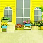 AOFOTO 10x10ft Artistic Backdrops Photography Background Wedding Romance Weeping Flower Chic Pots Bright Window Floor Tiles Lovers Kid Toddler Girl Portrait Scene Photo Shoot Studio Props Video