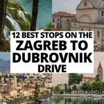 12 Best Stops On The Zagreb To Split To Dubrovnik Drive In 2020 Cool Places To Visit Zagreb Krka National Park