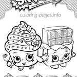 Shopkins Coloring Pages 12 Pin