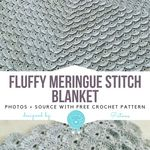 "Baby Blanket Landau Couverture en relief feuille 26/"" Square Knitting Pattern 4 plis"