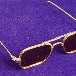 Puppenzubehör Puppen Brille weiß 8 cm breit 7990
