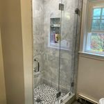 Beautiful Frameless Crl Serenity Single Sliding Shower Door With Low Iron Ultra Clear Glass Shower Frameless Glass Masterbath Tile Remo Shower Doors Frameless Shower Image Glass