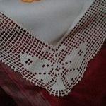 Embrace your inner math geek Pi Symbol wall hanging Crochet doily art  in light blue cotton math decor- geek home decor