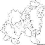 Print 059 Arcanine Pokemon Coloring Pages