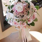 Blumen, Blüten & Girlanden Klug 70 Cm Autodeko Strauß Autoschmuck Braut Paar Deko Hochzeit Brautauto Bordeaux