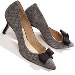 BRENE Ankle Strap Kitten Heel Pumps