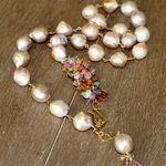 In Flavor Independent Gem-inside Natural White Pink Grey Purple Stick Point Biwa Freshwater Cultured Pearls Beads For Jewelry Making15 Diy Jewellery Fragrant