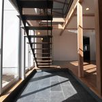 リビング階段の寒さ対策 防音対策にタチカワブラインドの折れ戸