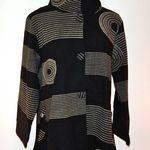 SP15-5029 Long Cotton Jacket WGeometric Print