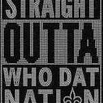 New Orleans Symbol Logo Car Bumper Sticker Decal 4 X 5 hotprint Saints Football